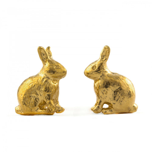 Alex Monroe Gold Rabbit Studs
