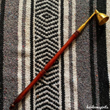 Brass Candle Snuffer with Wood Handle