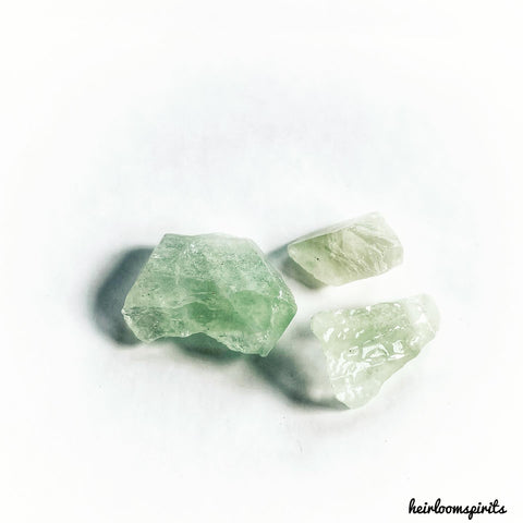 Green Calcite Chips