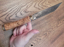 Load image into Gallery viewer, Pattern Welded Viking Scramasax, Exclusive Damascus Viking Scramasax Knife