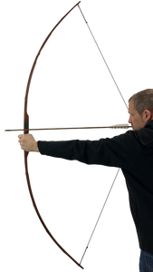 "Bamboo Backed Hickory Longbow 72"" - Medieval Hunting Longbow"