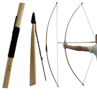 Classic English Medieval Longbow with Horn Nocks