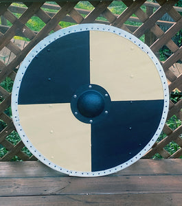 "Hjalmar 30"" Round Viking Shield, Handmade and Hand Painted"