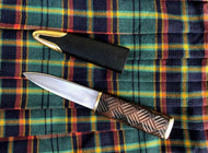 Scottish Dress Sgian Dubh, Hand Forged Highland Skean Dubh