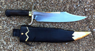 Handmade Musso Bowie Knife with Wooden Sheath and Leather Frog