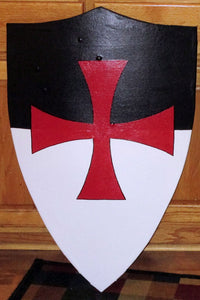 "Templar Curved Heater Medieval Shield 22""x34"" Functional"