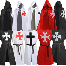 Load image into Gallery viewer, Medieval Halloween Cloak Men Vintage Knights Hospitaller Crusader LARP