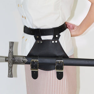 Medieval Sword Belt Waist Sheath Scabbard Frog Holder Adult Men Larp Warrior Armor Costume Rapier Leather Buckle Strap Holster