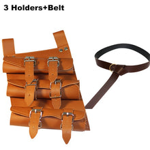 Load image into Gallery viewer, Medieval Sword Belt Waist Sheath Scabbard Frog Holder Adult Men Larp Warrior Armor Costume Rapier Leather Buckle Strap Holster