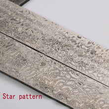 Load image into Gallery viewer, 5 kinds Damascus steel DIY knife Making Material Rose Sandwich Pattern steel Knife blade blank has been Heat Treatment
