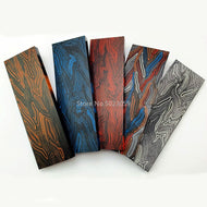 G10 Micarta Template Board Sheet Black/Red/Orange/Blue Damascus Canvas Material for DIY Knife Handle Craft Supplies -1Piece