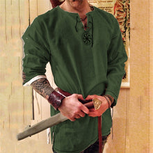 Load image into Gallery viewer, Kinight Cosplay Medieval Costume Tunic Halloween Costumes for Men Adult Viking Pirate Disguise Fancy Clothing Carnival Shirts