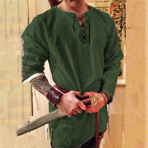 Kinight Cosplay Medieval Costume Tunic Halloween Costumes for Men Adult Viking Pirate Disguise Fancy Clothing Carnival Shirts