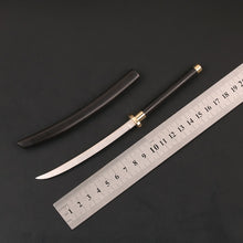 Load image into Gallery viewer, Handmade 1:5 Japanese Katana Letter Opener Sword 14C28N with Ebony wooden Saya