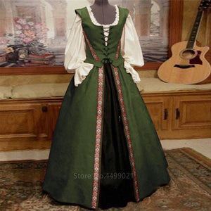 Medieval and Renaissance Gown, Victoria Palace Dress Halloween Carnival Party Costumes for Women Adult Costumes