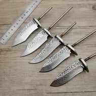 DIY VG10 Damascus steel forging pattern steel  straight knife fixed blade billet diy semi - finished knife blanks steel