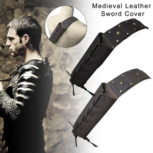 Universal Leather Sword Frog Medieval Sword Belt Waist Sheath Scabbard Frog Holder Protective Case Cosplay Props For Men