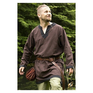 Men Viking Medieval Tunic Celtic Warrior Knight Top Saxon Blouse