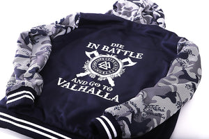 Odin Viking Hoodie, Men's, Die In Battle And Go To Valhalla Hooded Sweatshirt Coat Winter Warm Fleece