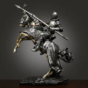 European Armored Medieval Knight Statue