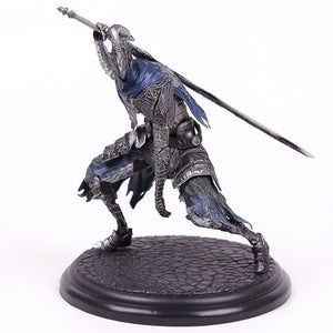 Dark Souls Black Knight Warrior Statues on wood base