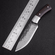 Outdoor Tactical Fixed Knives High-carbon steel Damascus pattern Knife Handmade camping Hunting Knife