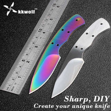 Load image into Gallery viewer, KKWOLF DIY pocket Knife Blanks 440c Sharp Fixed blade Hunting Knife camping knifeblade billet outdoor EDC Self-defense survival