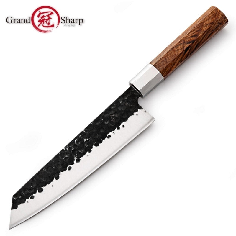 Japanese Kitchen Knives Handmade Kiritsuke Knife Chef Cooking Tools Wood Handle  High Quality Eco Friendly Products