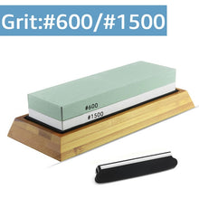 Load image into Gallery viewer, Knife Sharpener Whetstone Sharpening Stones grinding stone System water stone honing kitchen Tool 2-IN-1 240 600 1000 3000 grit