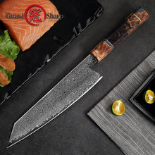 Load image into Gallery viewer, 8.2 Inch Damascus Kitchen Knife Handmade Chef Knife VG10 Japanese Damascus Steel Kiritsuke Kitchen Knife Gift Box Grandsharp