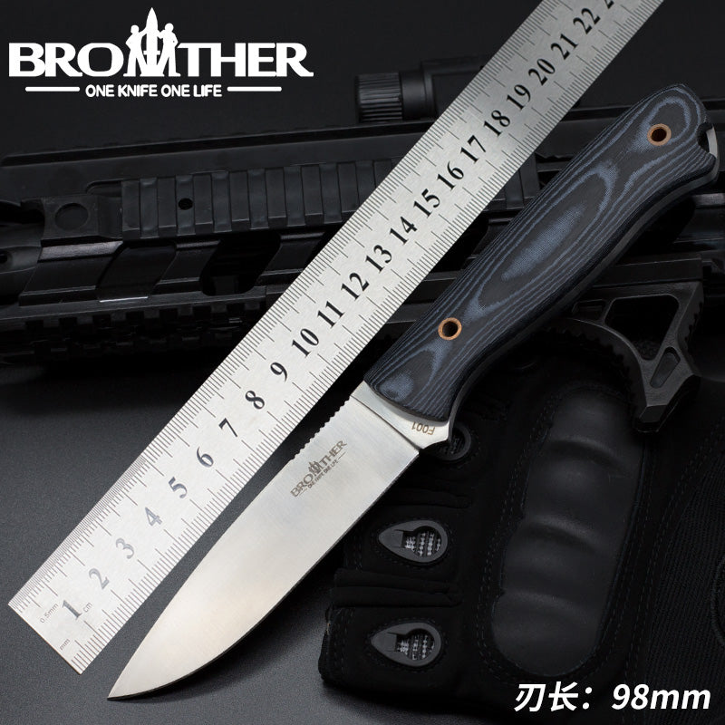 [BROTHER F001] Fixed Blade knife Bushcraft Survival Straight knife Tactical Hunting Camping Handmade high quality EDC tool
