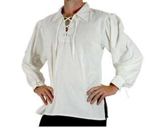 Adult Men Medieval Renaissance Grooms Pirate shirt Shirt Middle Age Viking Cosplay Top
