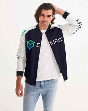 Emrit White Sleeve Bomber Jacket