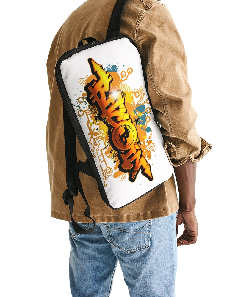 Bitcoin Graffiti Slim Tech Backpack