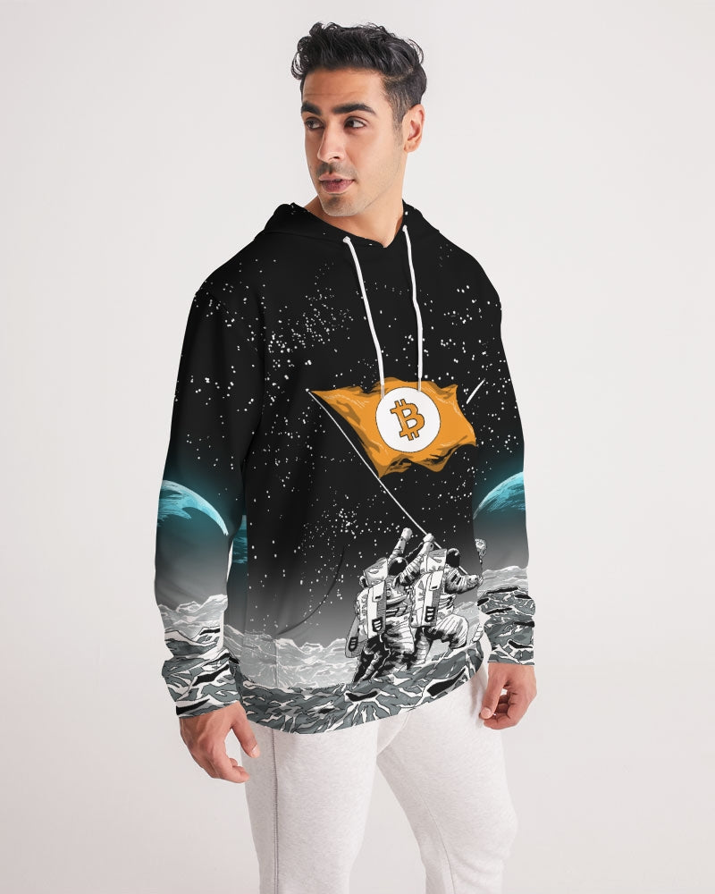 Bitcoin to the Moon All Over Print Hoodie