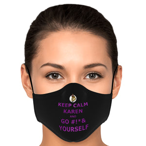 Keep Calm Karen Mask (DogeLord Royal Purple) With Filters