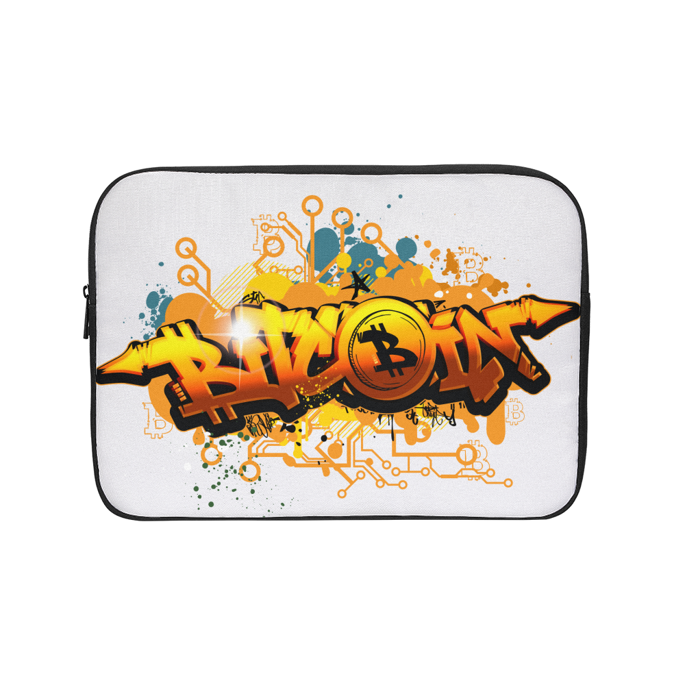 Bitcoin Grafiti Laptop Sleeve