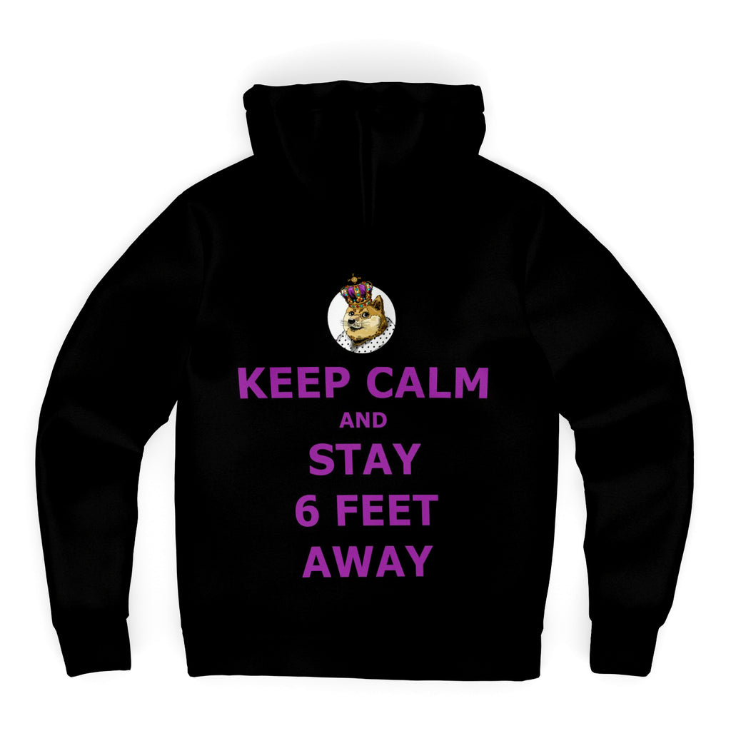 Keep Calm Microfleece Zip-up Hoodie (DogeLord Royal Purple Font)