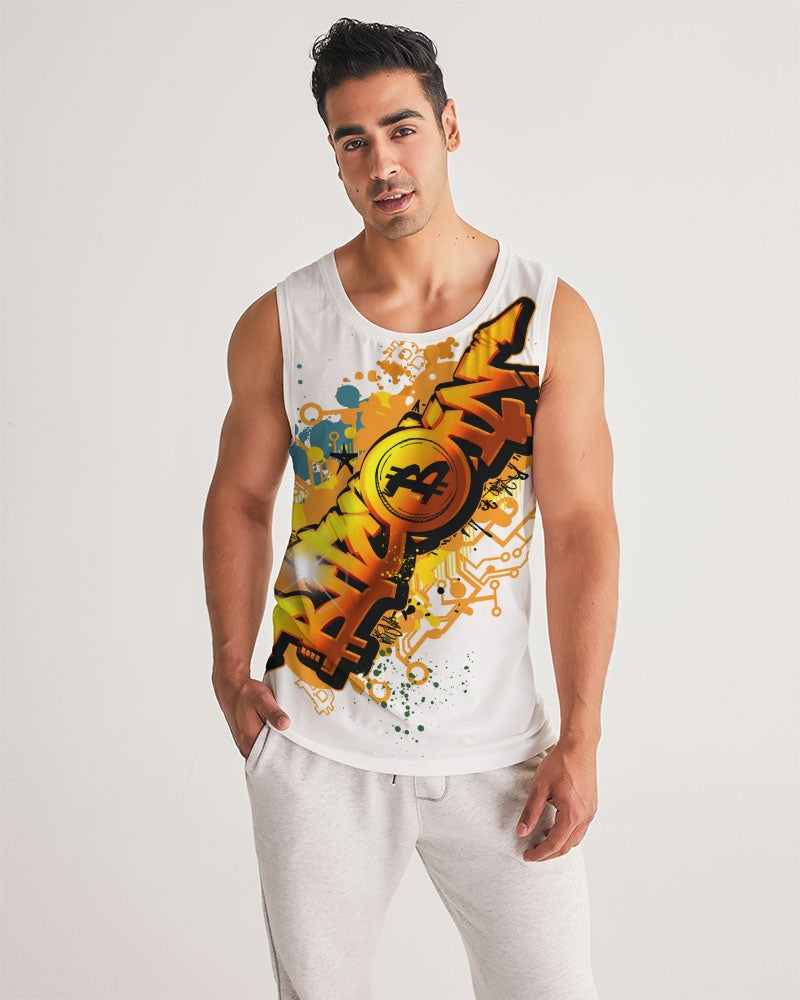 Bitcoin Grafiti Men's Sport Tank