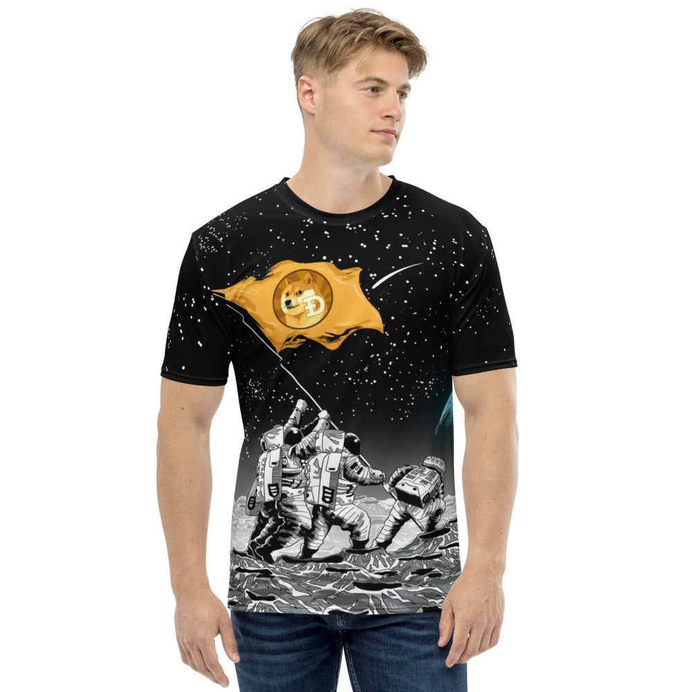 Dogecoin to the Moon! All Over Print Short Sleeve T-shirt