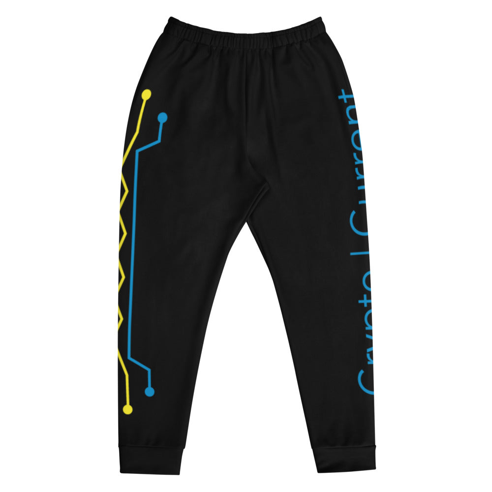 Crypto Current AOP Men's Joggers in Black