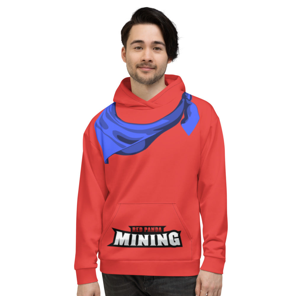 Red Panda Mining Panda Red All Over Print Hoodie