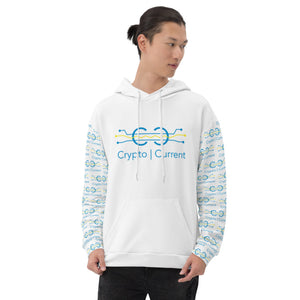 Crypto Current AOP Unisex Hoodie