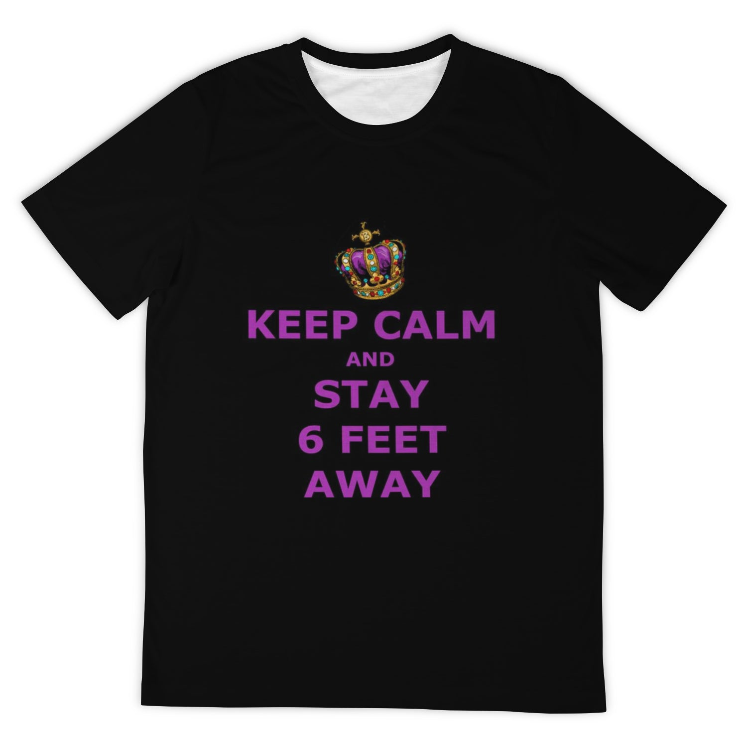 DogeLord Keep Calm T-Shirt (Crown Royal Purple Font)