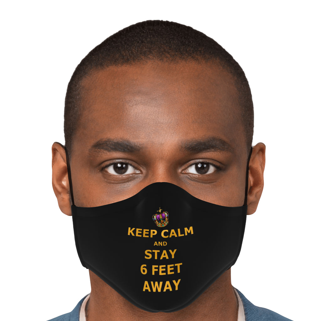 Keep Calm and Stay Six Feet Away Mask - dogelord.com