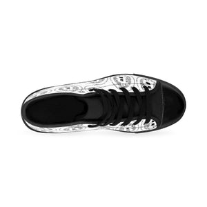 Men's Bitcoin High-top Black Toed Sneakers