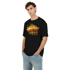 Bitcoin Graffiti Men's Tee in Black