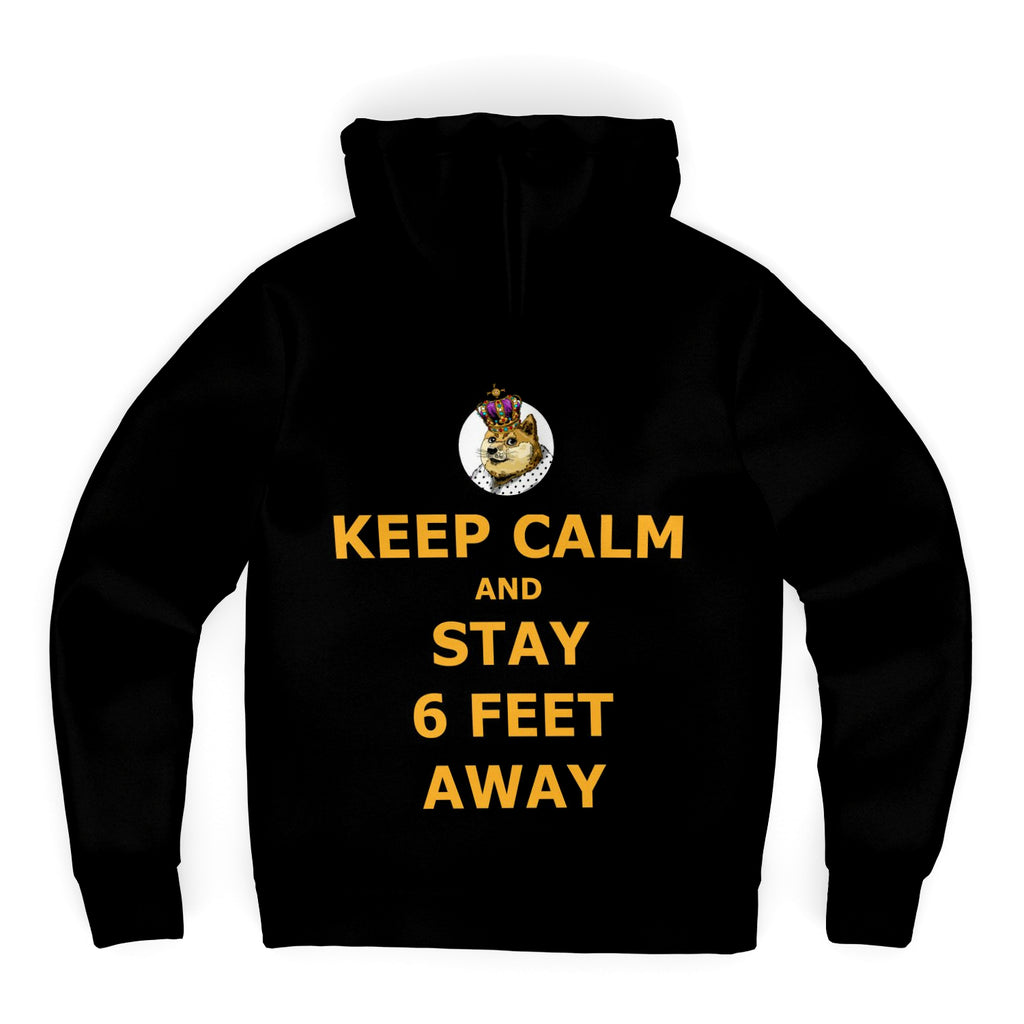 Keep Calm Microfleece Zip-up Hoodie (DogeLord Gold Font)