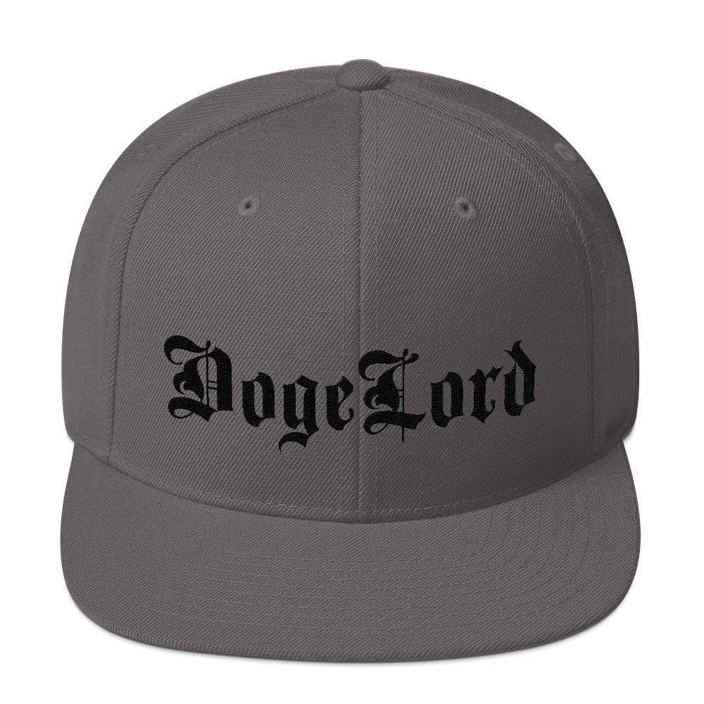 DogeLord Embroidered Snapback Hat