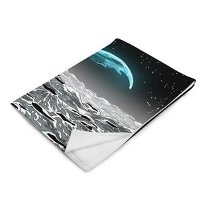 Bitcoin to the Moon Throw Blanket